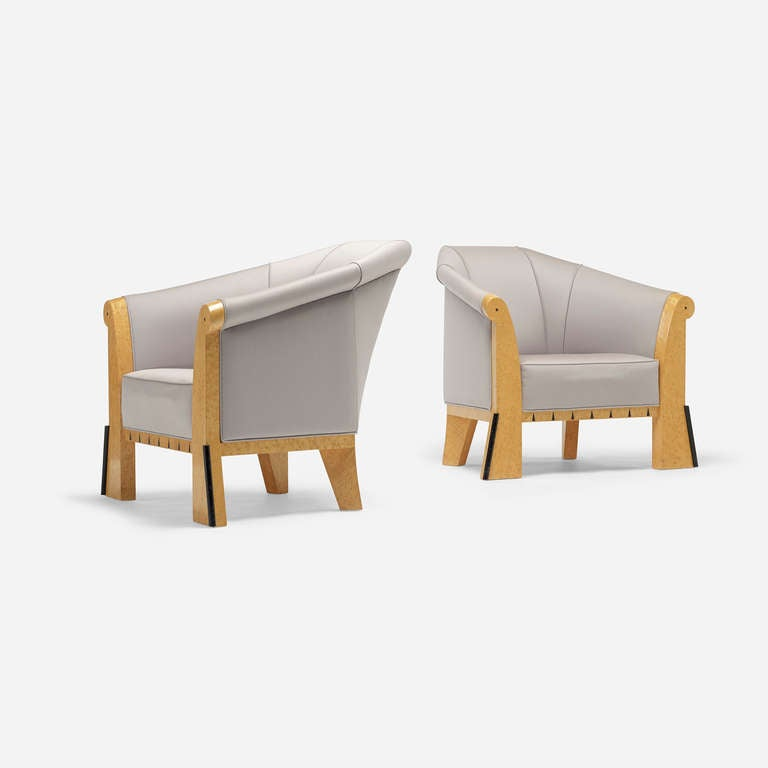 Pair Of Lounge Chairs By Michael Graves Image 3