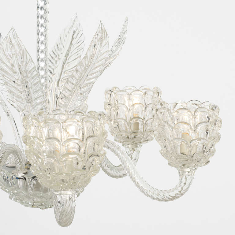 Chandelier By Barovier And Toso At 1stdibs