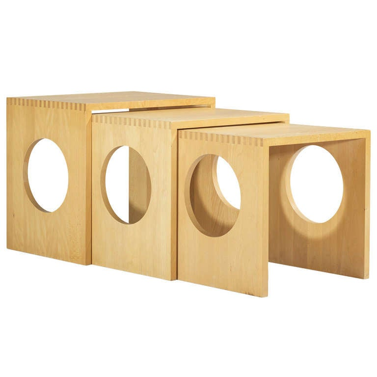 Vintage nesting tables set of wood nesting tables 1 outer - Nesting Tables Set Of Three By Jens Quistgaard At 1stdibs