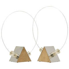Pair of B.T. Table Lamps, by Arditi and Gianni Gamberini for Sormani