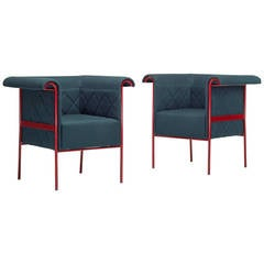 Swedish Lounge Chairs, Pair