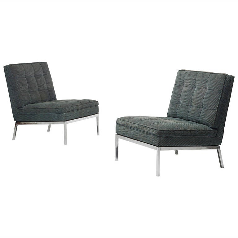Lounge Chairs Pair By Florence Knoll For Knoll Associates