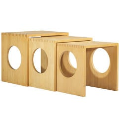 Nesting Tables, Set of Three by Jens Quistgaard for Nissen