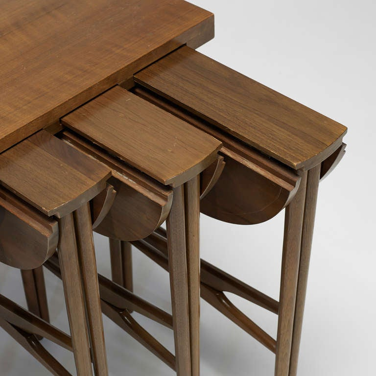 Nesting Snack Tables ~ Nesting tables set of five by bertha schaefer for sale at