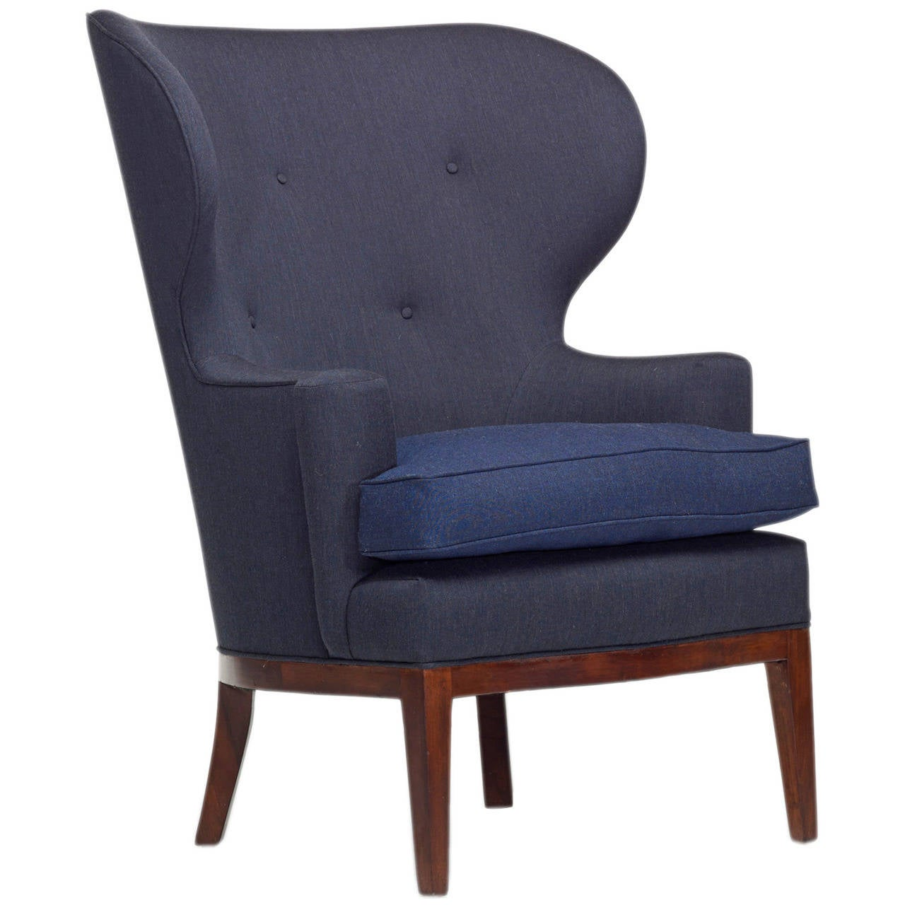 Early lounge chair by edward wormley for dunbar at 1stdibs - Edward wormley chairs ...