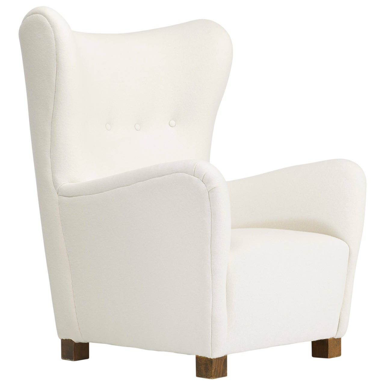 wingback armchair model 1672 by fritz hansen at 1stdibs. Black Bedroom Furniture Sets. Home Design Ideas