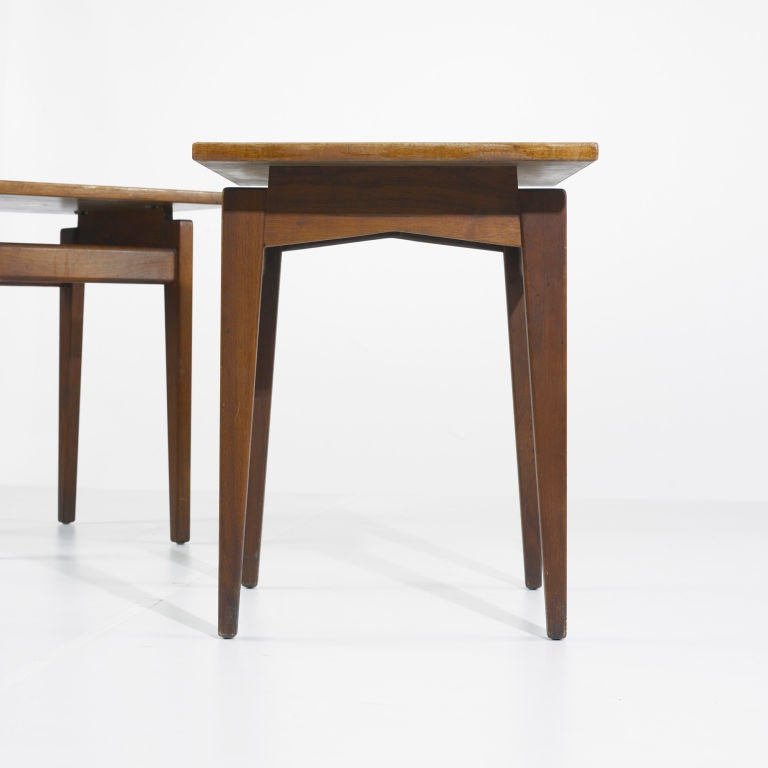 occasional tables, pair by Jens Risom image 3