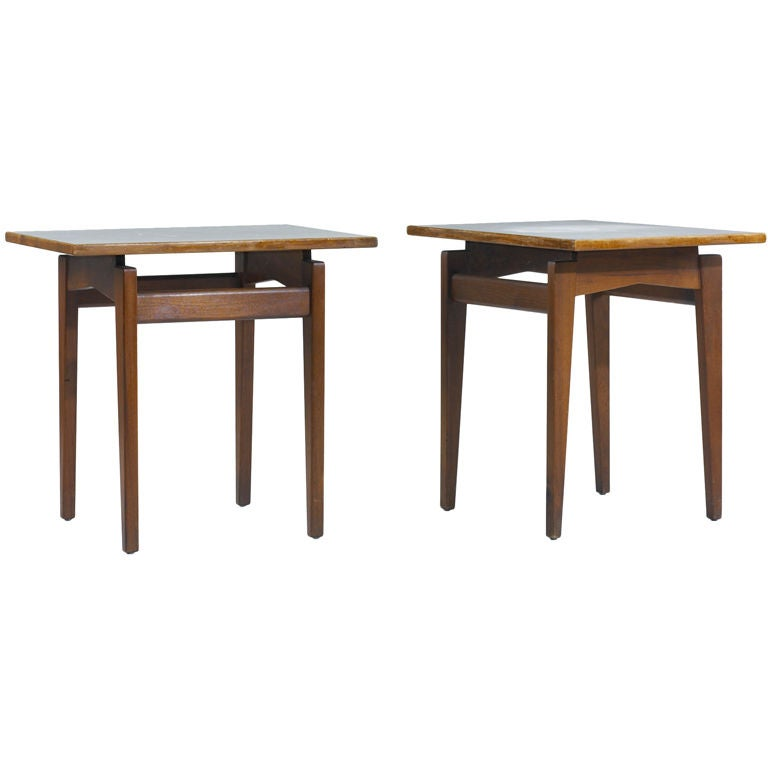 occasional tables, pair by Jens Risom