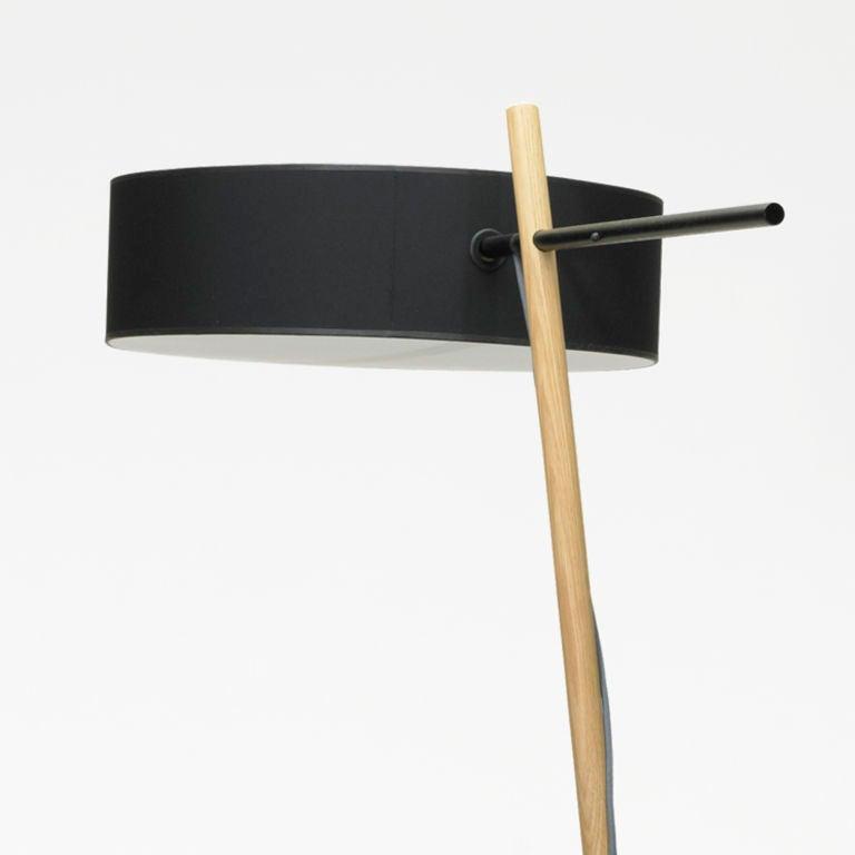 Oak Excel Floor lamp by Rich Brilliant Willing