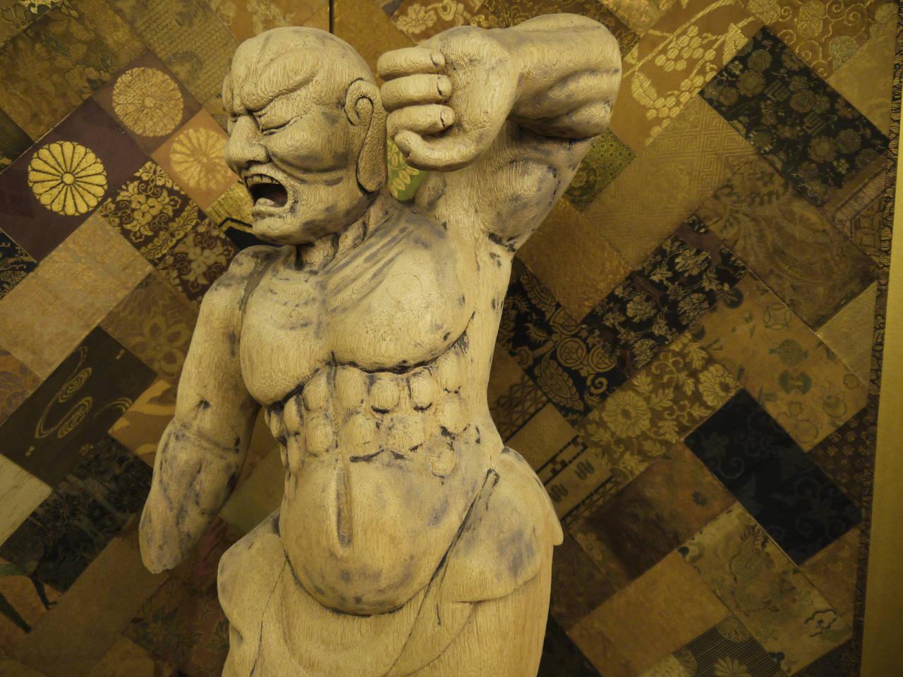Wooden Japanese 18th Century Nio Guardian Figure 5