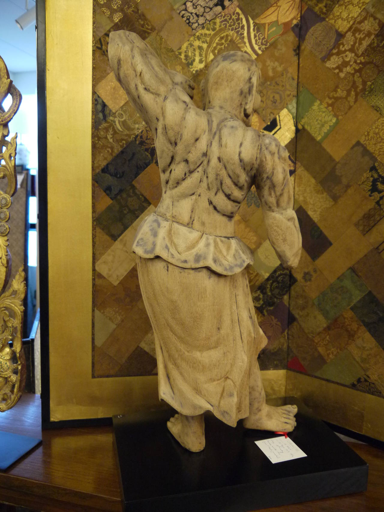 Wooden Japanese 18th Century Nio Guardian Figure 6
