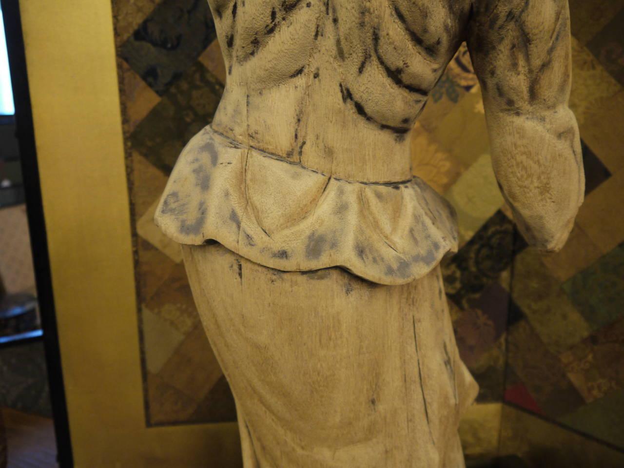 Wooden Japanese 18th Century Nio Guardian Figure 8