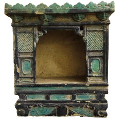 Chinese Tomb Pottery in the Form of a Shrine