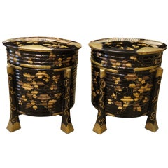 Pair of large Japanese Lacquer Boxes
