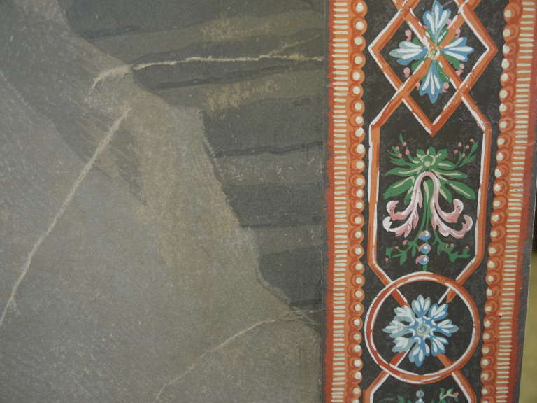 Antique Handblocked Wallpaper Panel Quot Cupid And Psyche Quot For