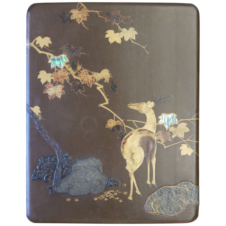 Large Japanese Lacquer Box For Sale