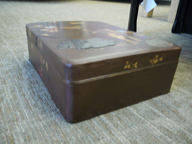 19th Century Large Japanese Lacquer Box For Sale