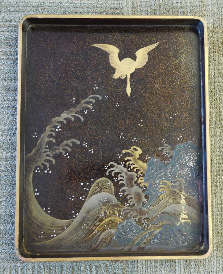 Large Japanese Lacquer Box For Sale 2