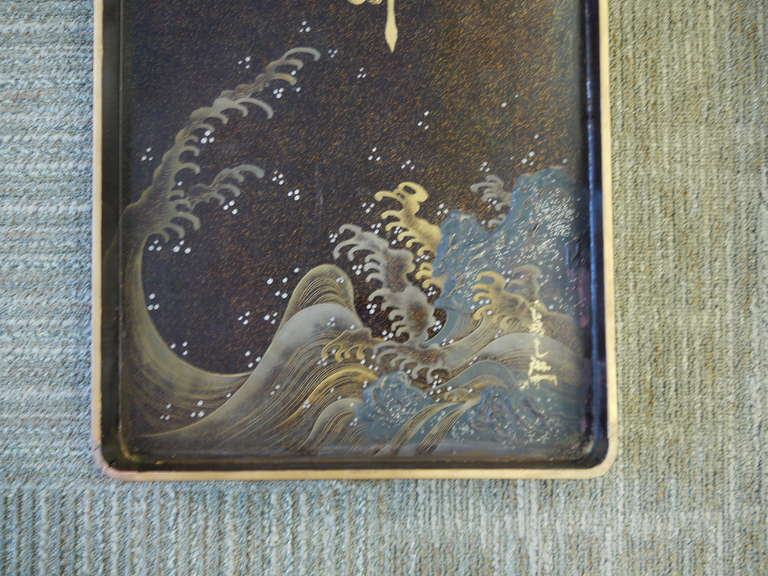 Large Japanese Lacquer Box For Sale 4