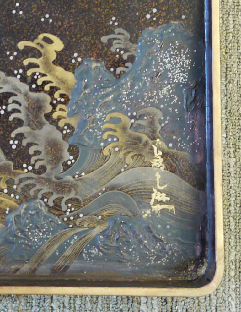 Large Japanese Lacquer Box For Sale 3