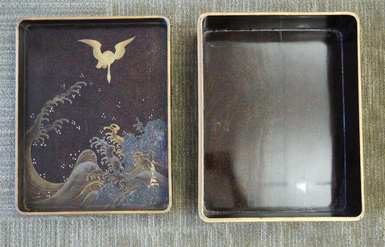 Large Japanese Lacquer Box For Sale 5