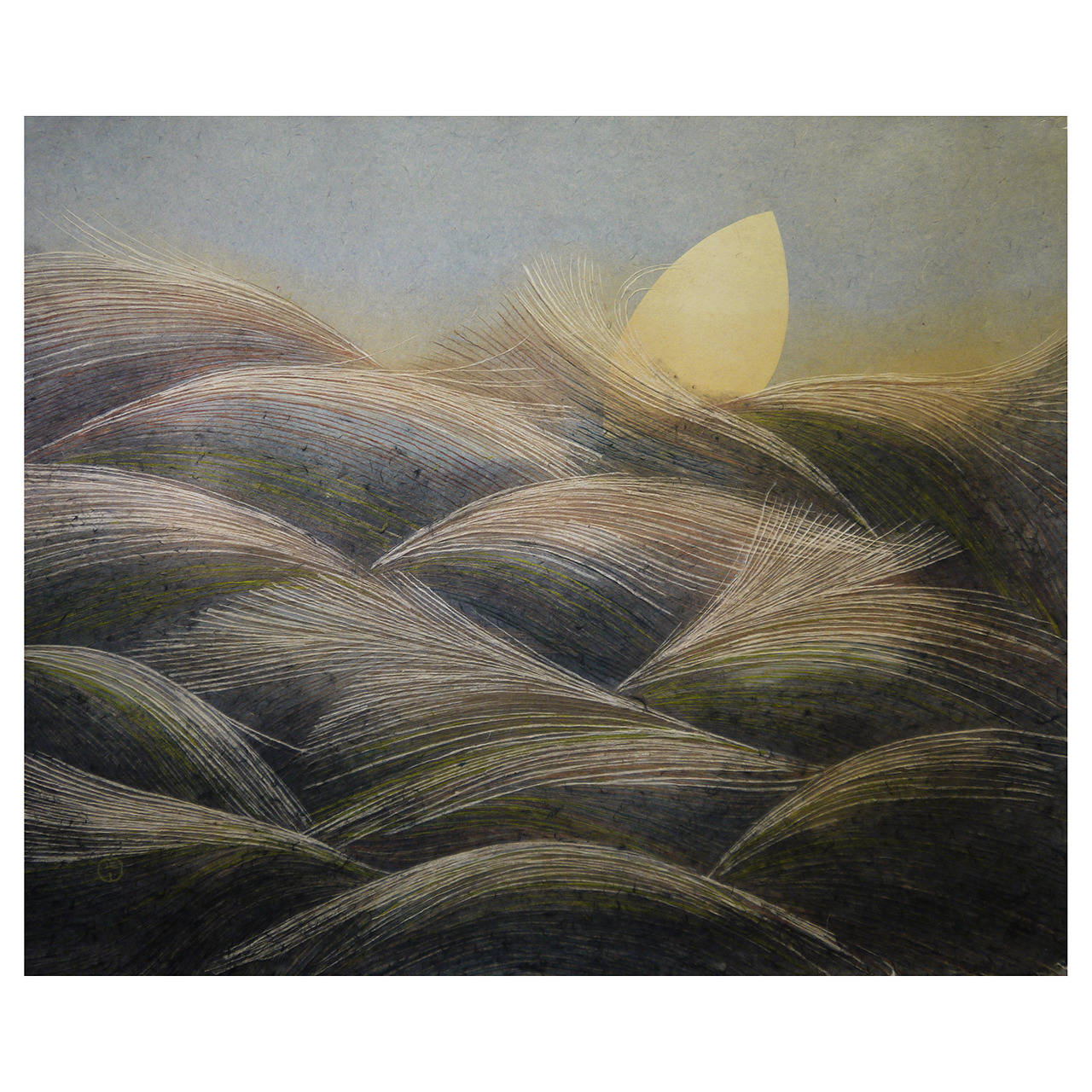 """Autumn Moon"" Painting by Masayoshi Kasugai For Sale"
