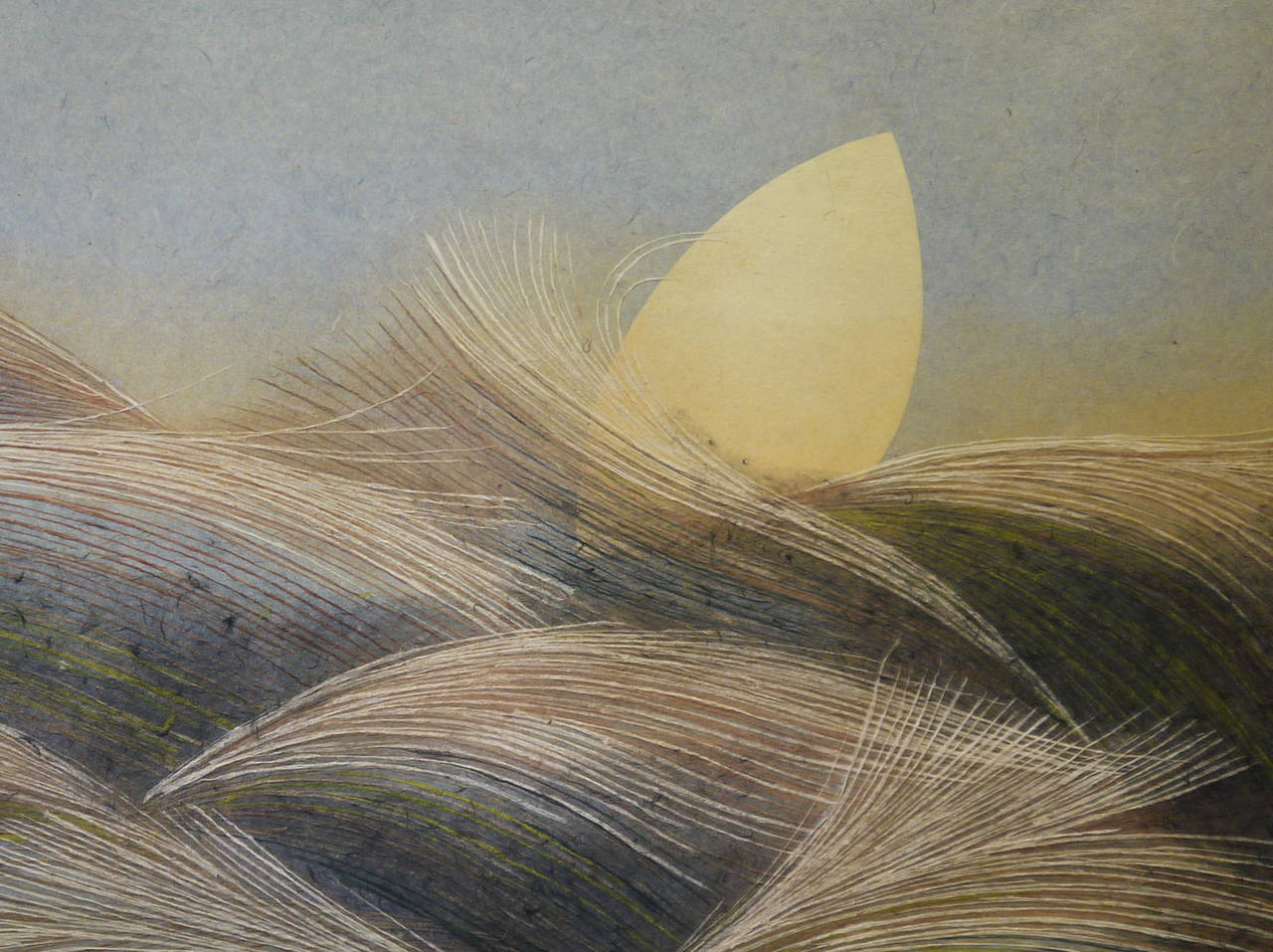 A beautiful large-scale work by the Japanese artist, Kasugai, circa 1970.