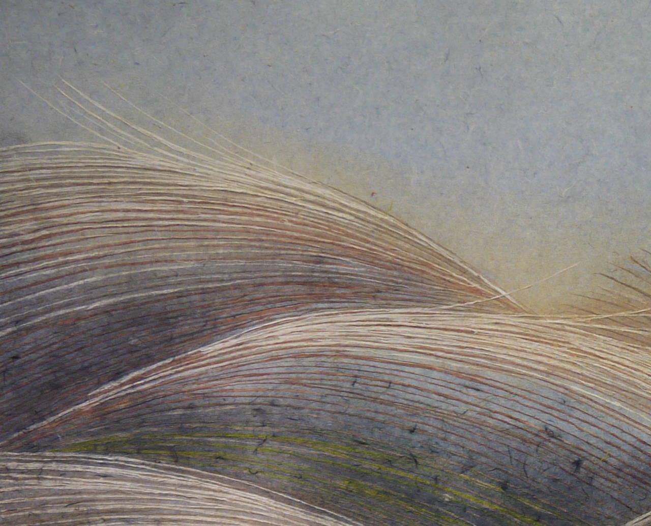 "Japanese ""Autumn Moon"" Painting by Masayoshi Kasugai For Sale"