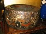 Huge Antique Japanese Wooden Hibachi image 2
