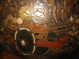 Huge Antique Japanese Wooden Hibachi image 3