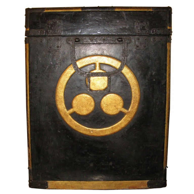 Antique Japanese Samurai Armor Box With Crests At 1stdibs