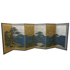Antique Japanese Screen