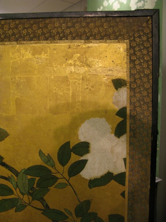 Antique Japanese Six-Panel Screen 2