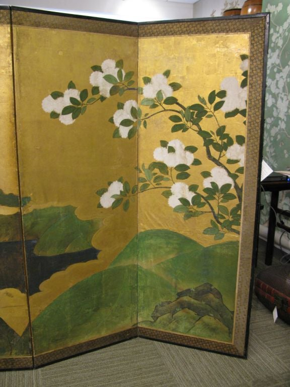 Antique Japanese Six-Panel Screen 3