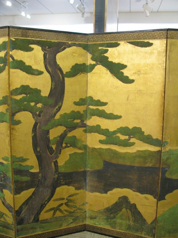 Antique Japanese Six-Panel Screen 4