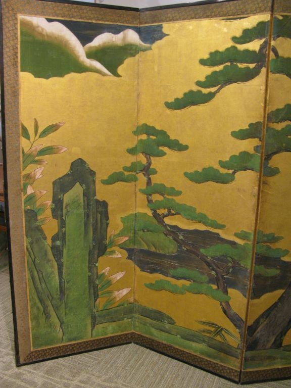 Antique Japanese Six-Panel Screen 5
