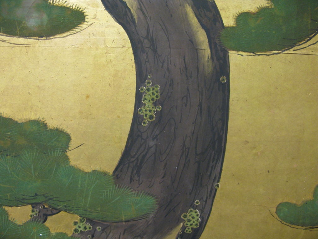 Antique Japanese Six-Panel Screen 8