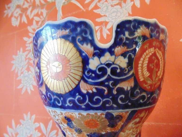 Japanese Pair of Massive Imari Vases For Sale