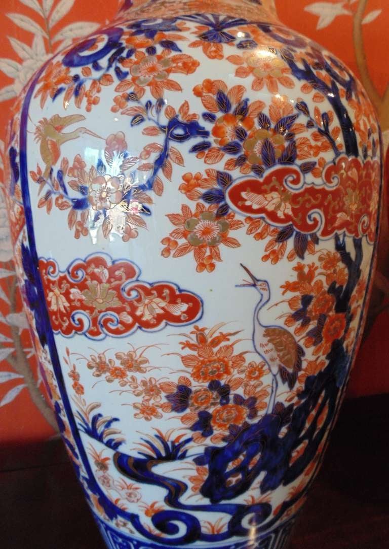 Pair of Massive Imari Vases In Good Condition For Sale In New York, NY