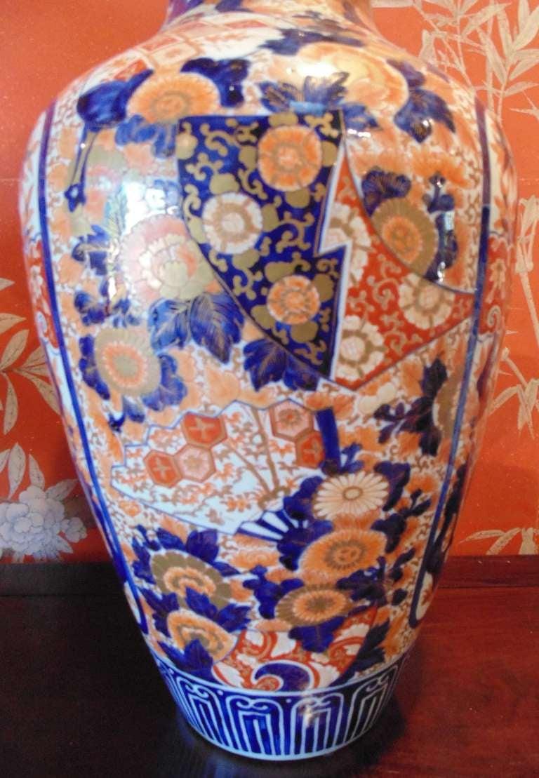 19th Century Pair of Massive Imari Vases For Sale