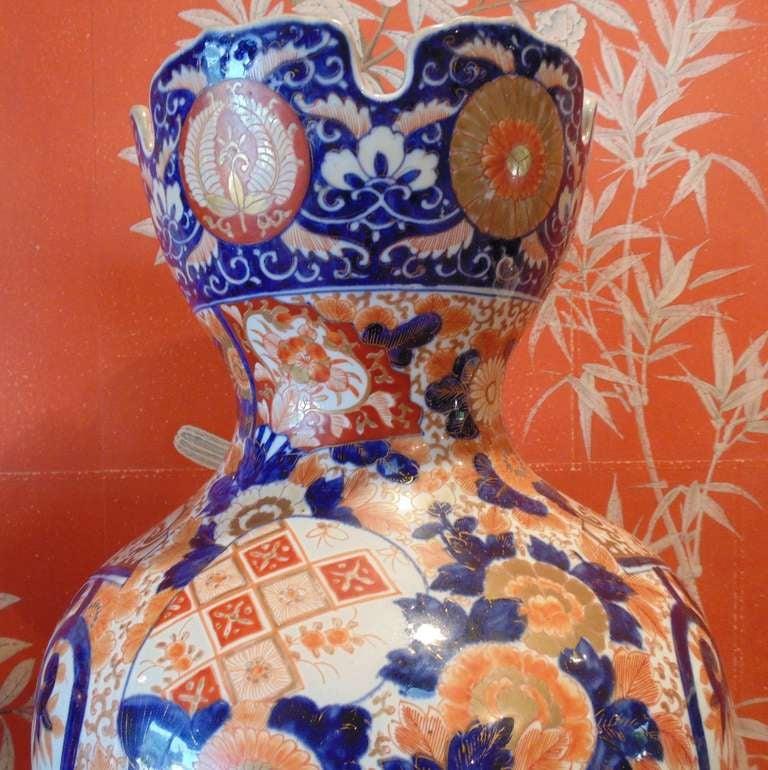 Pair of Massive Imari Vases For Sale 2