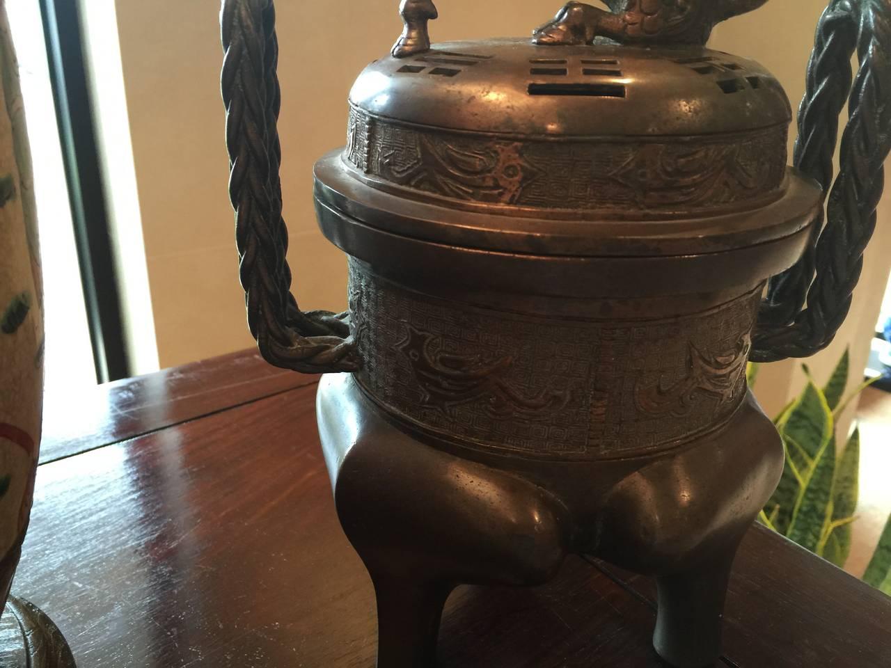 19th Century Bronze Censer 3