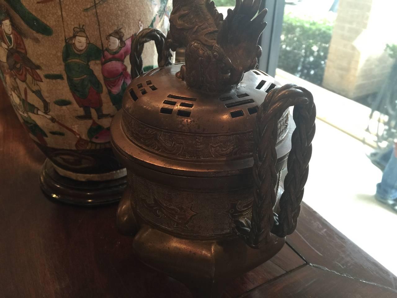 19th Century Bronze Censer 4