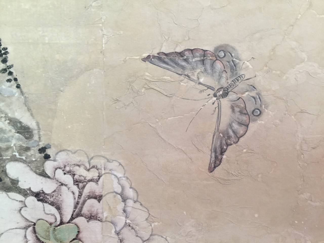 Framed 18th Century Chinese Wallpaper Panel In Good Condition For Sale In New York, NY