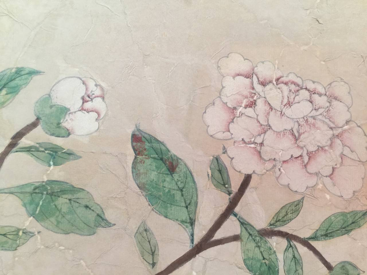 Paper Framed 18th Century Chinese Wallpaper Panel For Sale