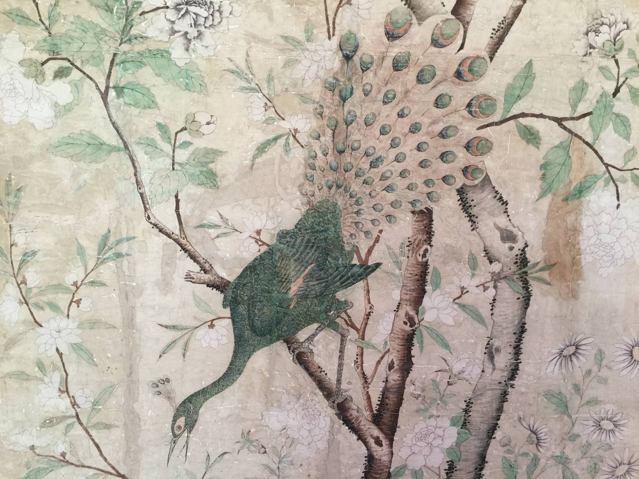 Framed 18th Century Chinese Wallpaper Panel For Sale 1