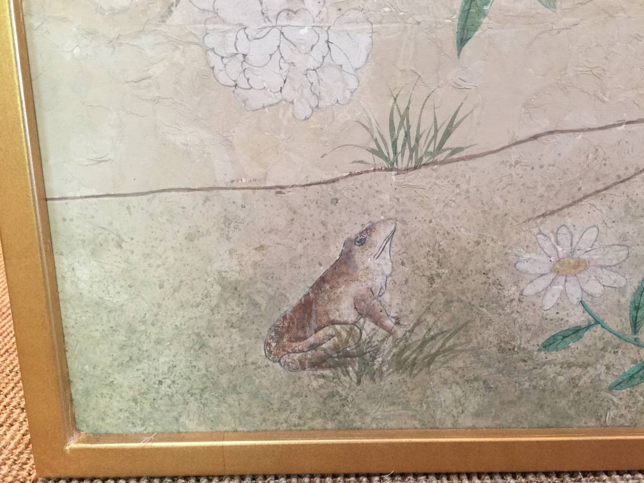 Framed 18th Century Chinese Wallpaper Panel For Sale 2