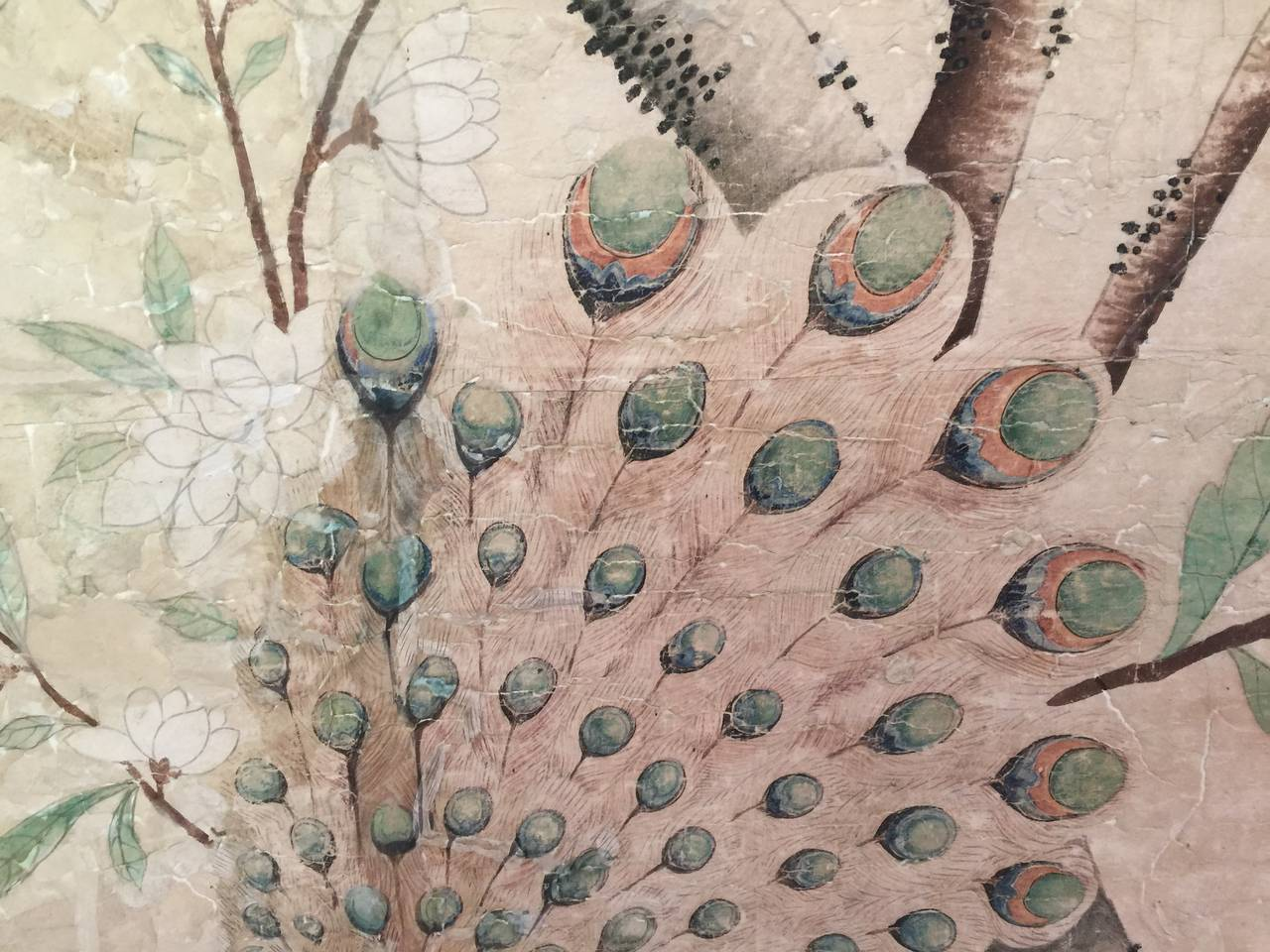 Framed 18th Century Chinese Wallpaper Panel For Sale 3