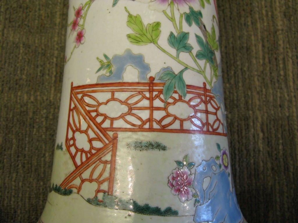 Chinese Famille Rose Beaker Shaped Vase For Sale 2