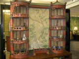 Vintage Chinoiserie Pagoda Form Display Cabinet thumbnail 5